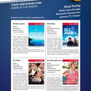 """16.-17.3. 2015 """"CRÉME DE LA CRÉME"""" - týždeň francúzskeho filmu"""
